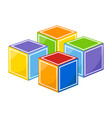 colorful kid cubes vector image vector image