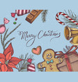 composition with colored bells gingerbread vector image vector image