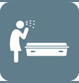 crying over dead body vector image vector image