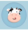 Cute Cow Sticking Tongue Out vector image
