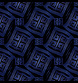 dark blue modern geometric seamless pattern vector image