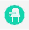 desk chair icon sign symbol vector image vector image
