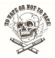 E-cigarette logo template with skull vector image