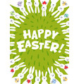 easter greeting card happy easter inscription and vector image vector image