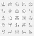 electric vehicle outline icons set all vector image
