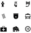 emergency icon set vector image