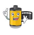 finger camera roll in cartoon drawer vector image