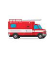 fire truck flat cartoon vector image