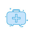 first aid box icon design vector image vector image