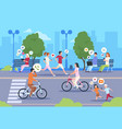 flat internet urban street city wifi people vector image vector image