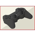 game pad isometric flat 3d vector image