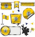 glossy icons with flag san bernardino vector image