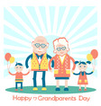 Grandparents with grandchildren family vector image