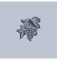 Grape with leaf - Element for design vector image vector image