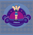Gym label vector image vector image
