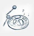 hang sketch line design music instrument vector image