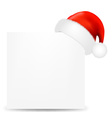 Happy Christmas Card With Santa Hat vector image