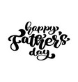 happy fathers day badge on white background label vector image vector image