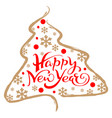 happy new year greeting card lettering text vector image vector image