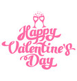 happy valentines day hand drawing with glasses vector image vector image