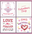 happy valentines day set - emblems and cards vector image