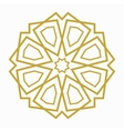 islamic or arabic shape vector image vector image