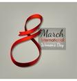 March 8 Ribbon vector image vector image