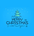 merry christmas and happy new year doodling style vector image vector image