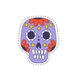 Mexican Painted Skull Bright Hipster Sticker vector image vector image