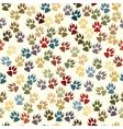 paw seamless tile vector image vector image