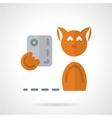 Pets selfie flat icon vector image vector image