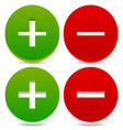 plus and minus signs symbols eps 10 vector image vector image