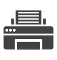 printer solid icon fax and office vector image vector image
