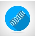 Round blue icon for DNA