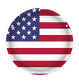 round metallic flag of usa with screw holes vector image