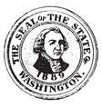 seal state washington 1904 vector image vector image