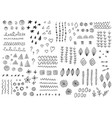 set doodle design elements vector image vector image