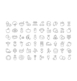 Set Flat Line Icons Vegetarianism vector image