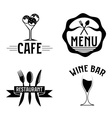 set of vintage cafe and restaurant emblems vector image