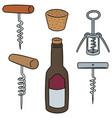 set of wine opener vector image vector image