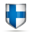 Shield with flag Finland vector image
