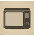 Silhouette of retro tv set vector image