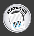 statistics button vector image