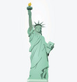 statue of liberty vector image vector image