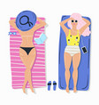 summer beach poster with girl vector image