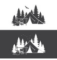 summer camp day and night vector image vector image