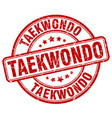 Taekwondo red grunge round vintage rubber stamp vector image