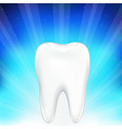 tooth on blue background vector image vector image