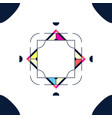 Trendy card frame style design abstract geometric
