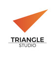 triangle logo vector image